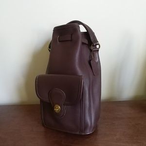 Vintage Coach backpack bucket brown leather EC9992